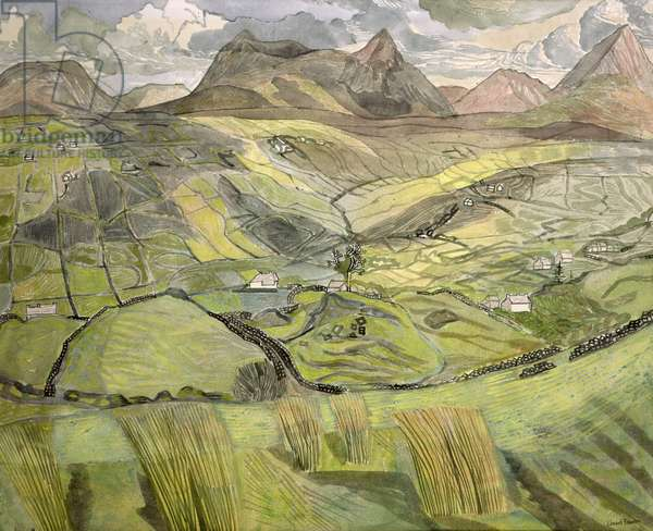 Muckish Mountain, County Donegal, 1968 (w/c on paper)