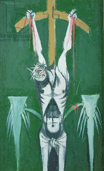 The Crucifixion, 1947 (oil on board)