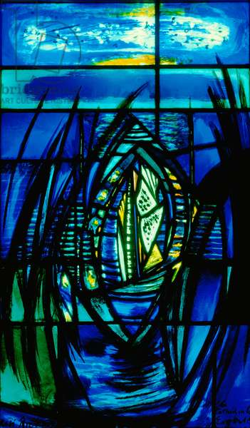 La Cathedrale Engloutie III, c.1960 (stained glass)