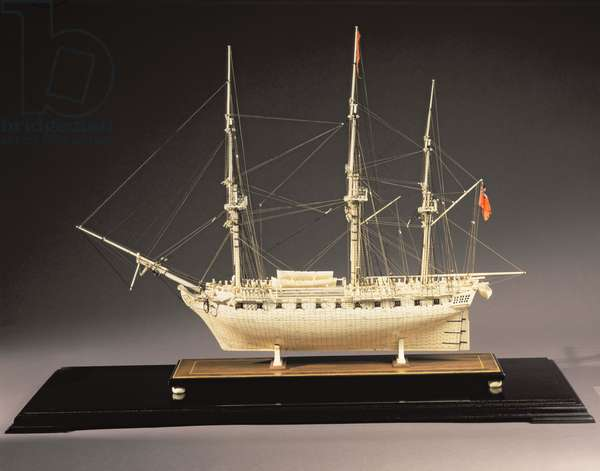 H.M.S. Pandora, a Bone Model Ship made by French Prisoners of War, c.1795