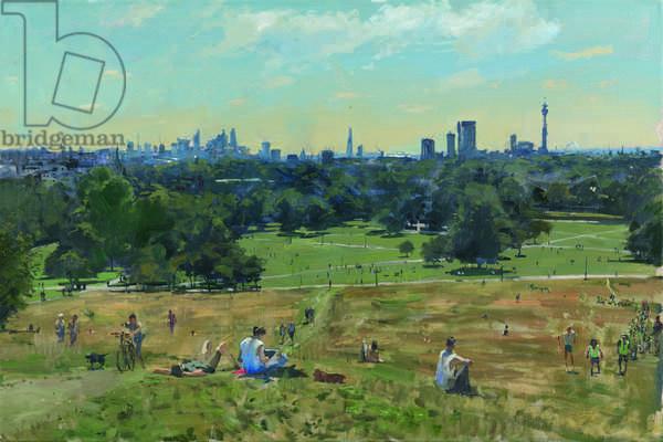 The Primary School Mounts Primrose Hill, 2014 (oil on canvas)