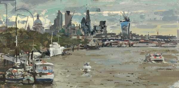 From Waterloo Bridge II, 2013 (oil on canvas)