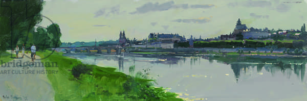 Morning at Blois, 2013 (oil on board)