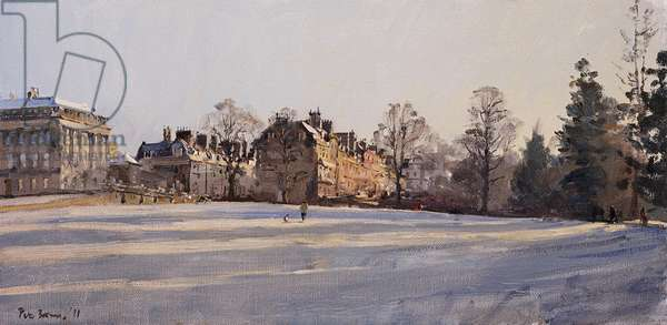 Frost, Royal Crescent and Brock Street, January 2011 (oil on canvas)