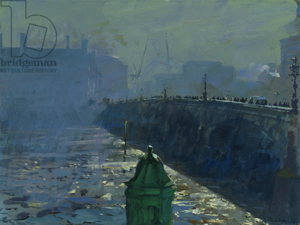Crossing Westminster Bridge, 8am, 2014 (oil on canvas)
