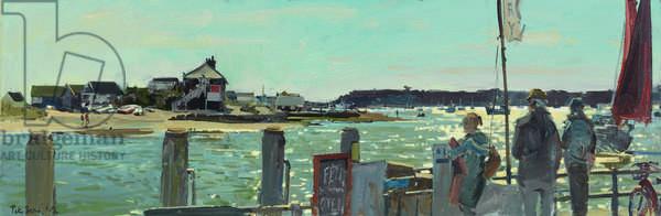 Over the Run, Mudeford Quay, 2013 (oil on board)