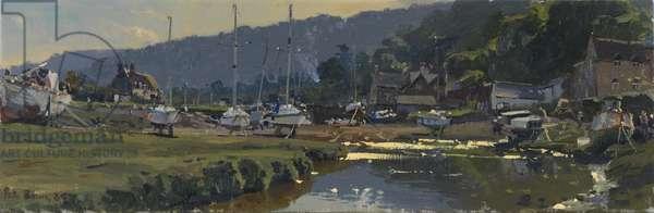 September, Porlock Weir, 2009 (oil on canvas)