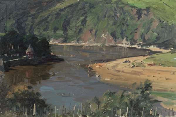 Jenkins Quay, Bantham, 2012 (oil on board)