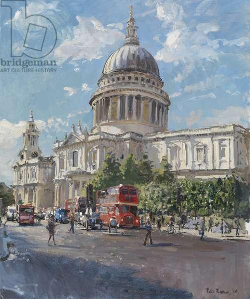 St Paul's, Sun After Rain, 2010 (oil on canvas)