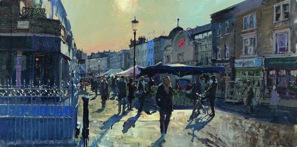 Winter Sun, Portobello Road (The Electric Cinema) 2014 (oil on canvas)
