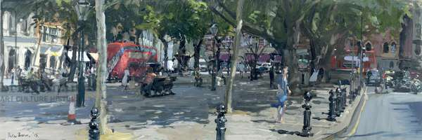 Sloane Square, 2015 (oil on board)