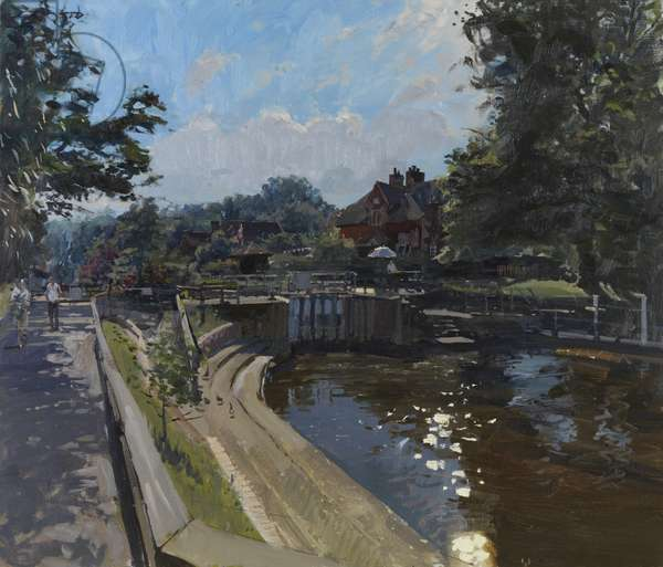 Sonning Lock, 2011 (oil on canvas)