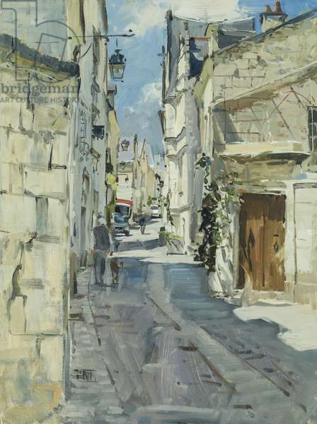 Chinon, France, 2016 (oil on board)