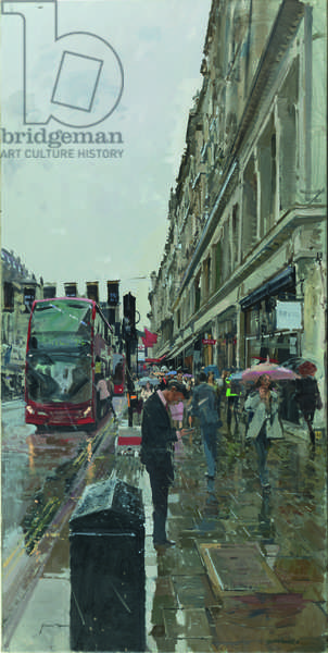 Regent Street, looking towards Hamley's, 2014 (oil on canvas)