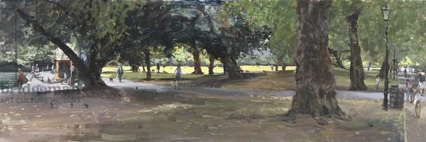 Late Summer, Battersea Park, 2009 (oil on board)