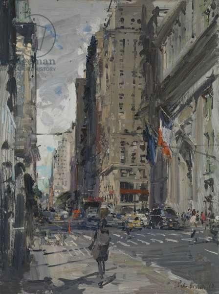 Downtown Broadway, 2017 (oil on board)
