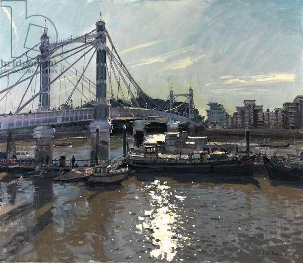 October Morning, Albert Bridge, 2011 (oil on canvas)