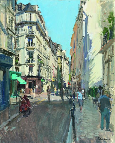 Rue Saint-André des Arts, 2014 (oil on canvas)
