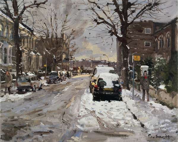 Mall Street, Hammersmith, Freezing Thaw, 2009 (oil on canvas)