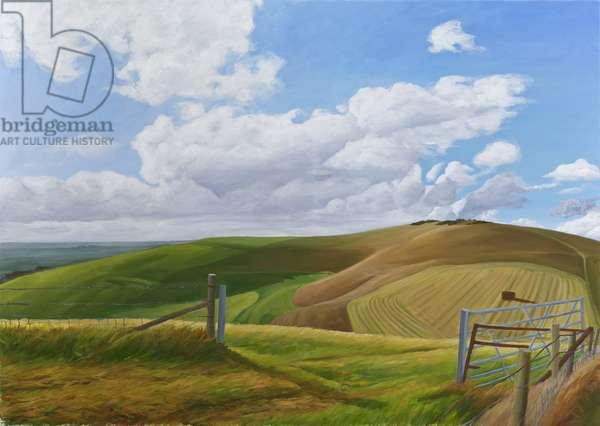 Melbury Hill, Dorset, 2010 (acrylic on canvas)