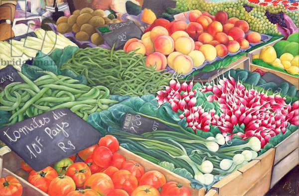 Market Stall, 1999 (oil on canvas)