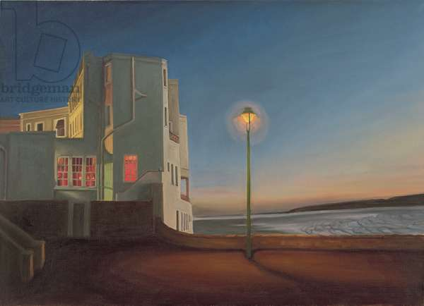 The Royal Pier Hotel, Winter's Evening I, 2007 (oil on canvas)