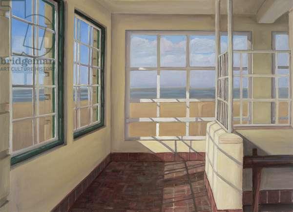 Shelter, Winter Light, Weston-super-Mare, 2007 (oil on canvas)
