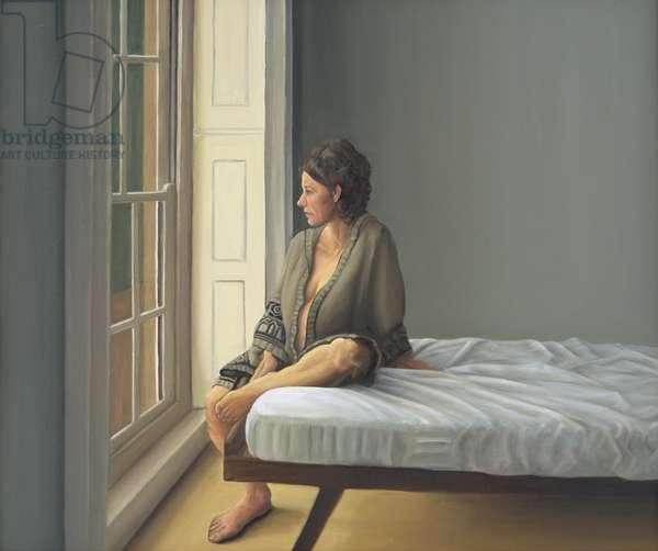 Simona Pregnant Seated, 2007 (oil on canvas)