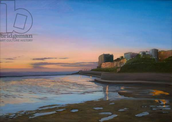 Dusk, Weston-super-Mare, 2006 (oil on canvas)