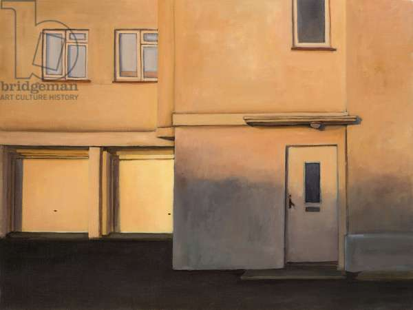 Entrance to Guildford Flats, Sandwich Bay, 2013 (oil on canvas)