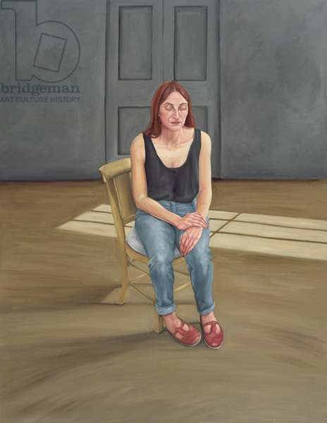 Joy Seated, 1996-2005 (oil on linen)