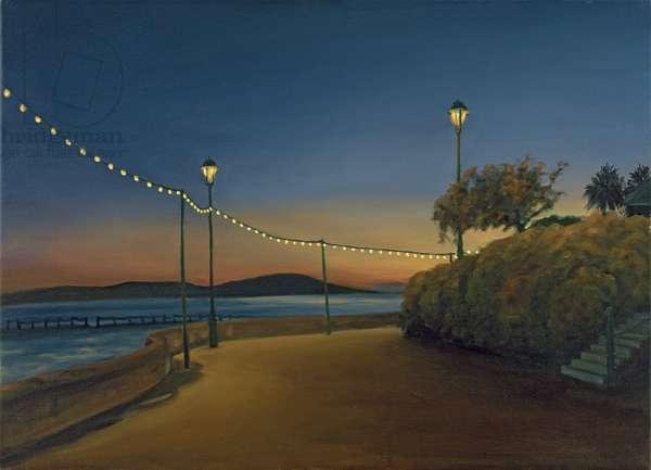 The Promenade, Weston-super-Mare, Nightfall, 2007 (oil on canvas)