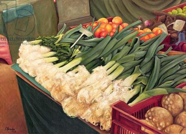 Leeks, 1999 (oil on canvas)