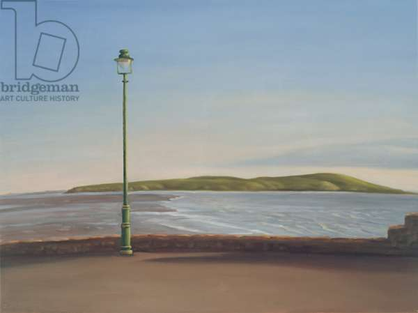 Lamppost and Brean Down, 2007 (oil on linen)