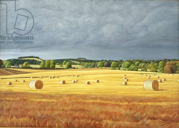 Harvested Fields at Kilconquhar, 2001 (oil on canvas)
