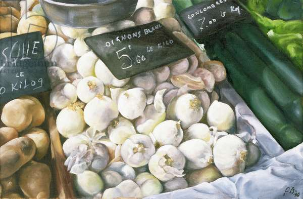 White Onions, 1999 (oil on canvas)