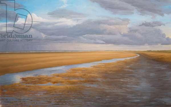 Low Tide 1, Sandwich Bay, 2013 (oil on canvas)