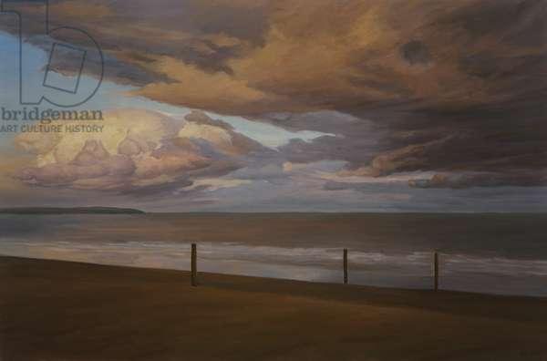 Autumn Seascape, Last Light, 2016 (oil on canvas)