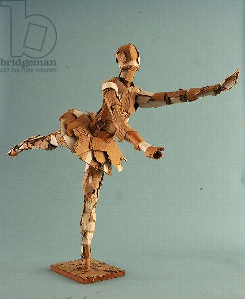 Ballerina (wood and cardboard)