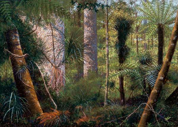 New Zealand forest (pastel on paper)