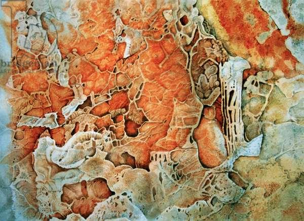 Cycladic rock (w/c on paper)