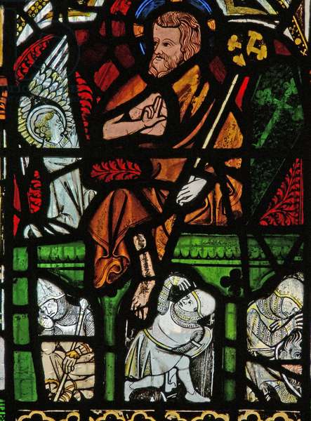 Window N2 depicting the Resurrection (stained glass)