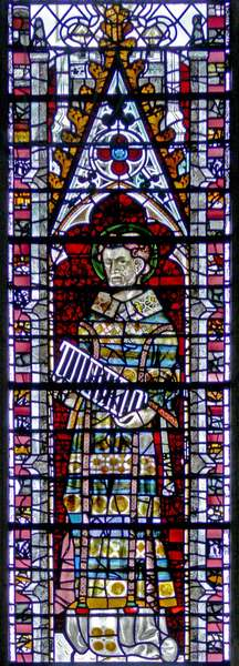 Window w2 depicting St Lawrence (stained glass)