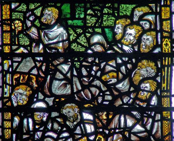 Window w3 depicting the Agony in the Garden (stained glass)