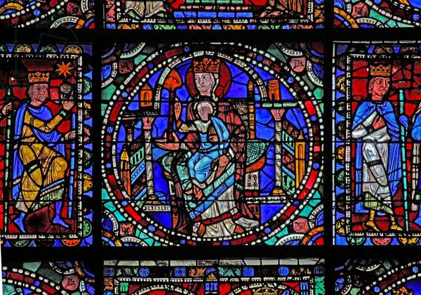 The Life of Christ window: the Virgin & Child (w50) (stained glass)