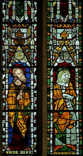 Window n2 depicting Jeremiah and a prophet (stained glass)