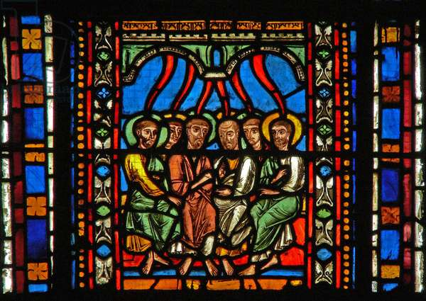 Window s2-C depicting Pentecost (stained glass)