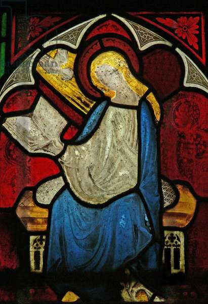 Window n6 depicting the Annunciation (stained glass)