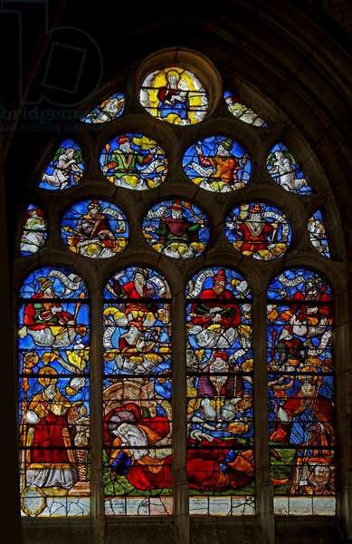 Window w3 depicting the Tree of Jesse (stained glass)