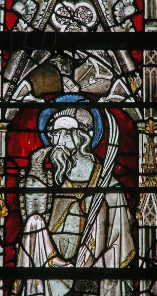 Window Ew depicting St John (stained glass)